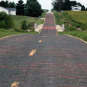 This is the Route 66 brick alignment that takes you to the COOLBUS, is not it cool?