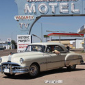 "Watch as my friend Dave is riding into the Past. Location is Tucumcari, ""hotel row"", in front of one of the most famous motel Blue Swallow. The city once had the slogan of Home of 2000 motel rooms. A must stop for all in New Mexico."