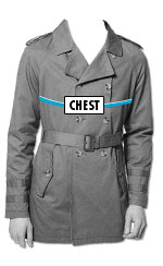 route 66 MEN'S jackets HOW TO MEASURE