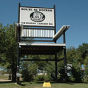 "Route 66 offers lots of attractions. People always built funny posts, towers, signs to get the notice of travelers. This is one of the recent ones from Fanning 66 Outpost, near Cuba, MO, constructed in 2008. The rocker stands 42' 1"" tall and 20' 3"" wide."