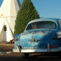A night in a WIGWAM. Not a typical motel for sure. No pool, no breakfast, no WIFI, perfect! Holbrook, Arizona.