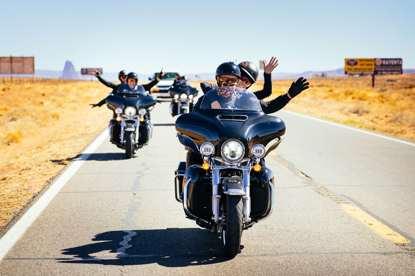 happy Route 66 riding